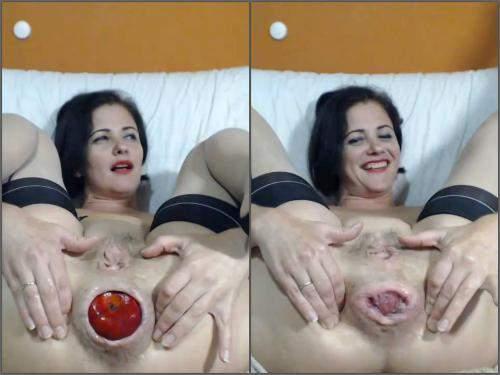 Queenvivian anal rosebutt loose after apple vaginal penetration fully
