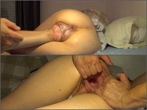 Brutal vaginal fisting homemade – Rare POV porn