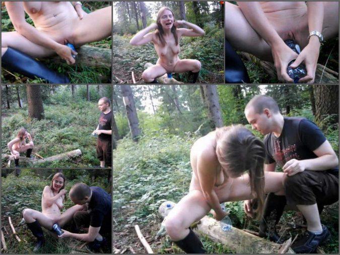German Girl Karinahh Vaginal Bottle Porn In The Forest  Amateur Fetishist-2282