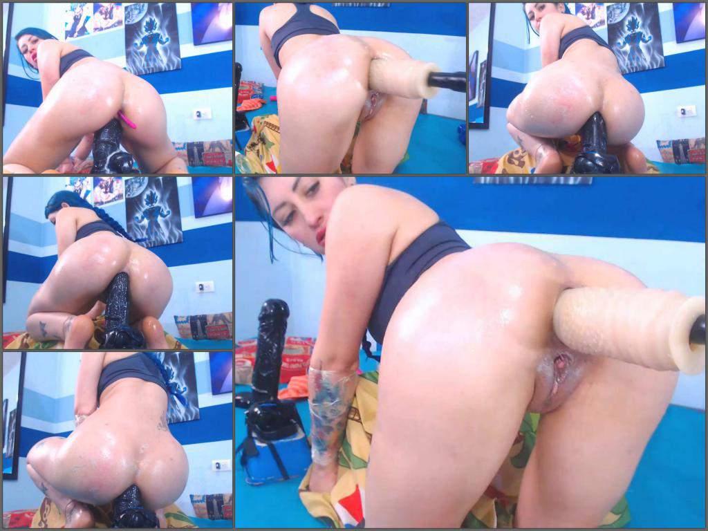 Russian Girl Anal Dildo