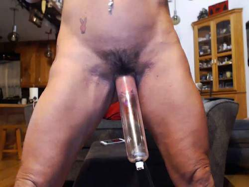 Hairy Sex  Musclemama4U Vaginal Pump And Show Big Hairy -9565