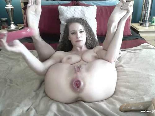 Anal Webcam Girls - Webcam cute curly girl anal rosebutt loose with double ...