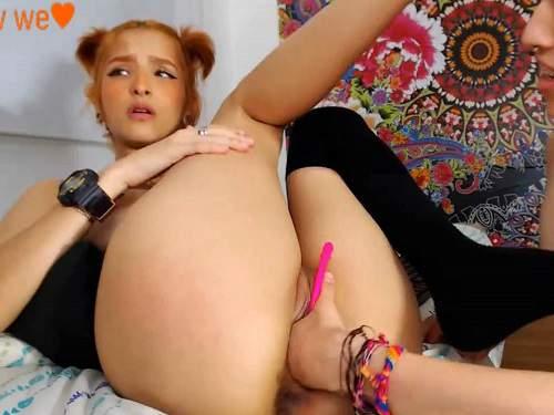 Teen Lesbian Sleepover Orgy