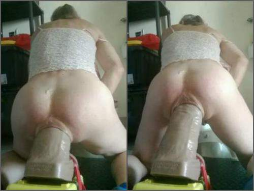 Big Butt Anal Dildo Ride