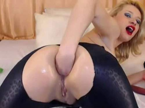 Webcam GingerRomayn double dildos sex and self anal fisting