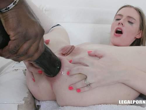 Rebel Rhyder many black cock and BBC dildo anal very deep